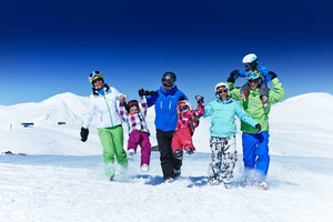 Ski package with family sleding- card in January 2020